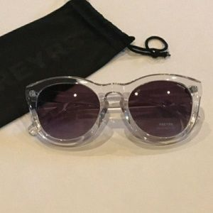 Freyrs Clear Acrylic Sunglasses with Pouch